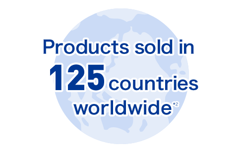 Products sold in 125 countries worldwide *2